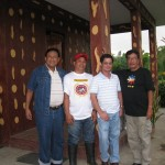 Left to Right: Celso Evangelista( breeder/owner of Longscore Gamefarm; Andy Abela( Farm Manager); Dr.Teddy Tanchanco, Director of TJT Cocking School; Director Ed Bulaong of Hataw Pinoy TV Program> The Hataw Pinoy team visited Longscore Gamefarm on July 05, 2010 to interview Celso Evangelista and feature the modern facilities and locally-bred and imported broodfowls of LSGFarm this coming July-September TV shows.